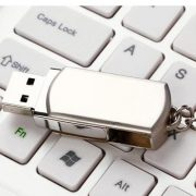 metal usb drive with keychain
