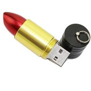 Gold lipstick usb flash drive