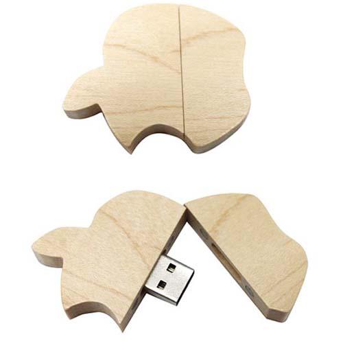 wood apple usb flash drive