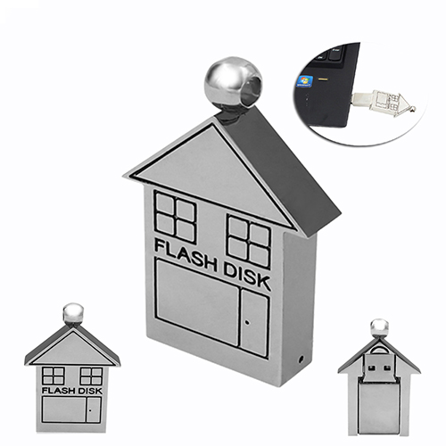 metal house usb flash drive