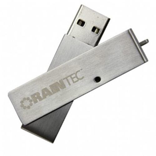 Metal-USB-Flash-Drive-Swivel-Brushed-Silver-with-Keychains