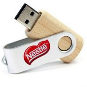 wooden swivel usb flash drive