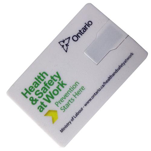 swivel credit card usb flash drive